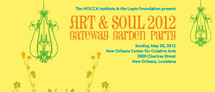 Sunday, May 20: The NOCCA Institute's ART & SOUL Patron Party & Gala