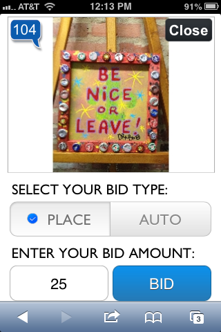 Individual auction lot, AuctionsByCellular