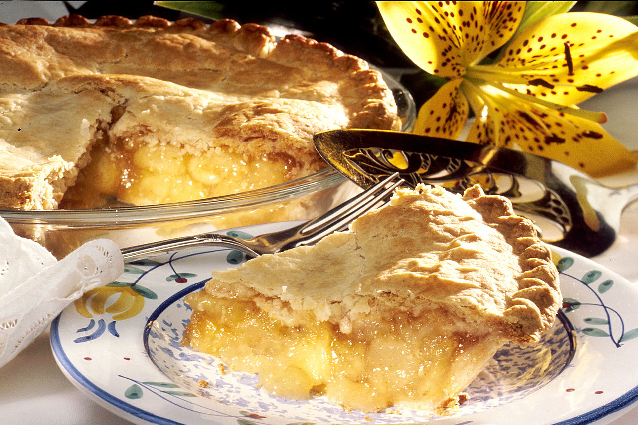 NOCCA's Pie Of The Month For September: French Apple Pie With Cheddar Crust!