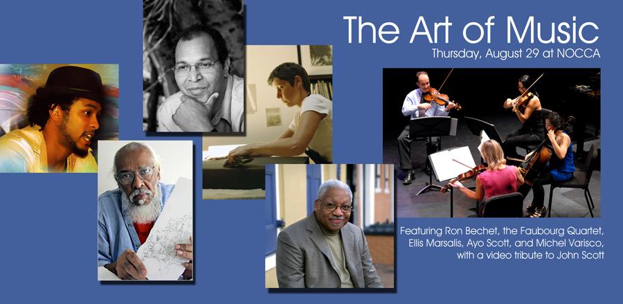 Thursday, August 29: The Art Of Music, Featuring Ellis Marsalis, The Faubourg Quartet, Ron Bechet, Ayo Scott, And Michel Varisco