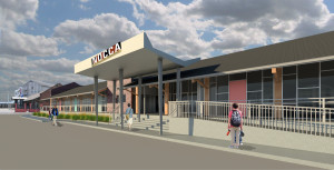 NOCCA Forum facade, rendered by John C. Williams Architects