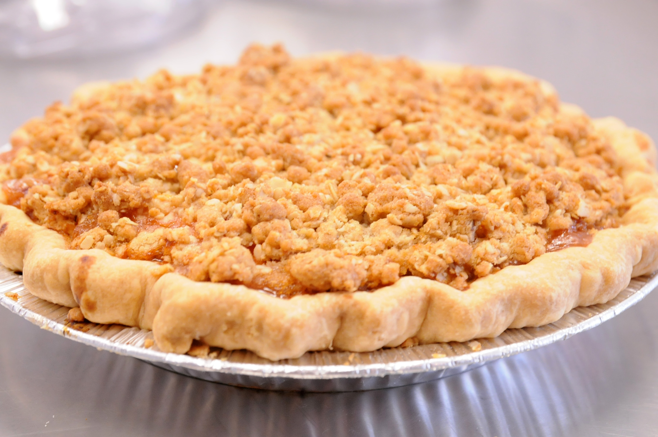January's Pie Of The Month: Cinnamon Apple Crumble