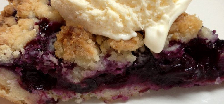Our Final Pie Of The Month For 2013-14 Is A Blueberry Lime Crumble