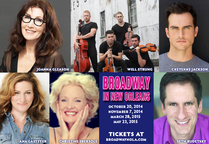 2014-15 Broadway Series Stars Joanna Gleason, Cheyenne Jackson, Ana Gasteyer, Christine Ebersole, & Seth Rudetsky