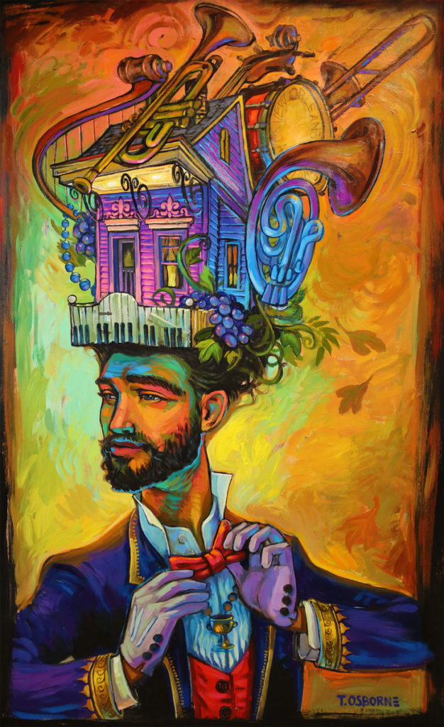 'The Wine Connoisseur' by Terrance Osborne. Win a giclee of this painting at ART&SOUL 2016!