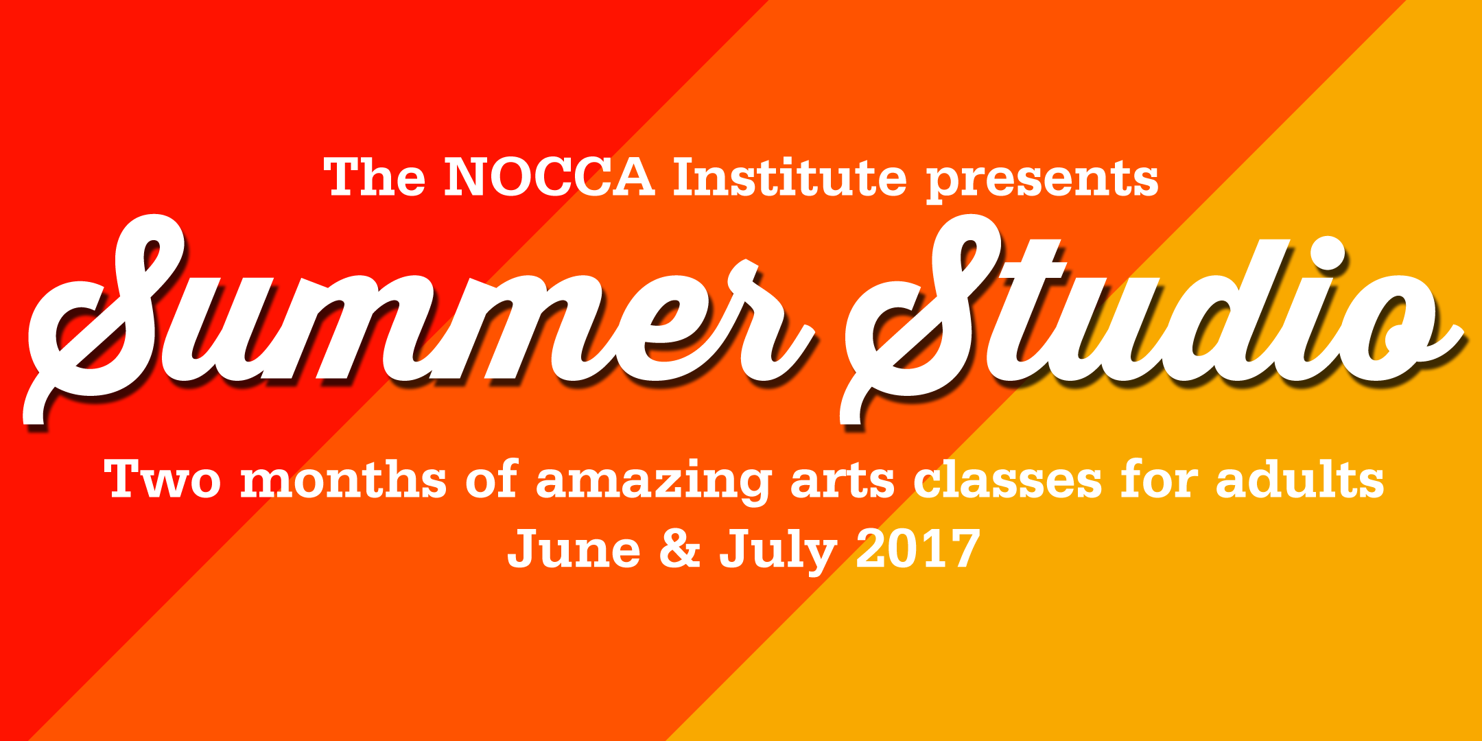 Take arts classes for adults at our Summer Studio: June-July 2017
