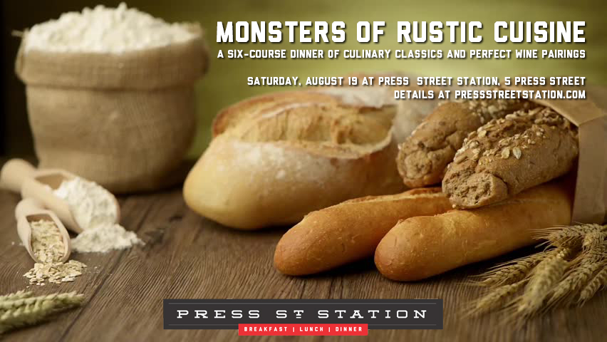 August 19: A six-course dinner of culinary classics in Press Street Station
