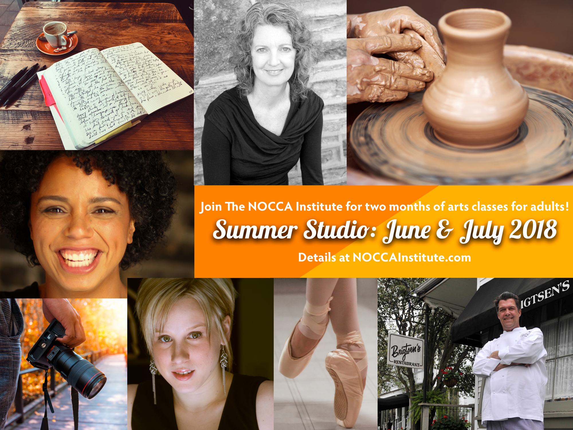 Join us for two months of arts classes for adults: June and July 2018