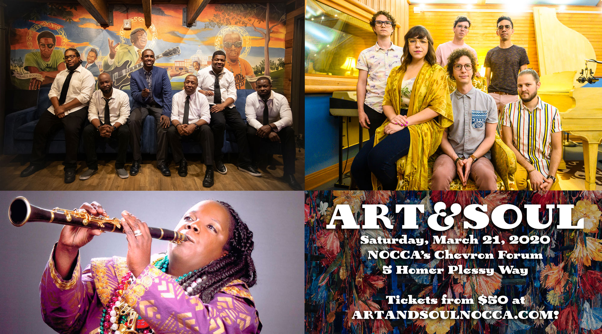 ART&SOUL 2020 is Saturday, March 21 at NOCCA