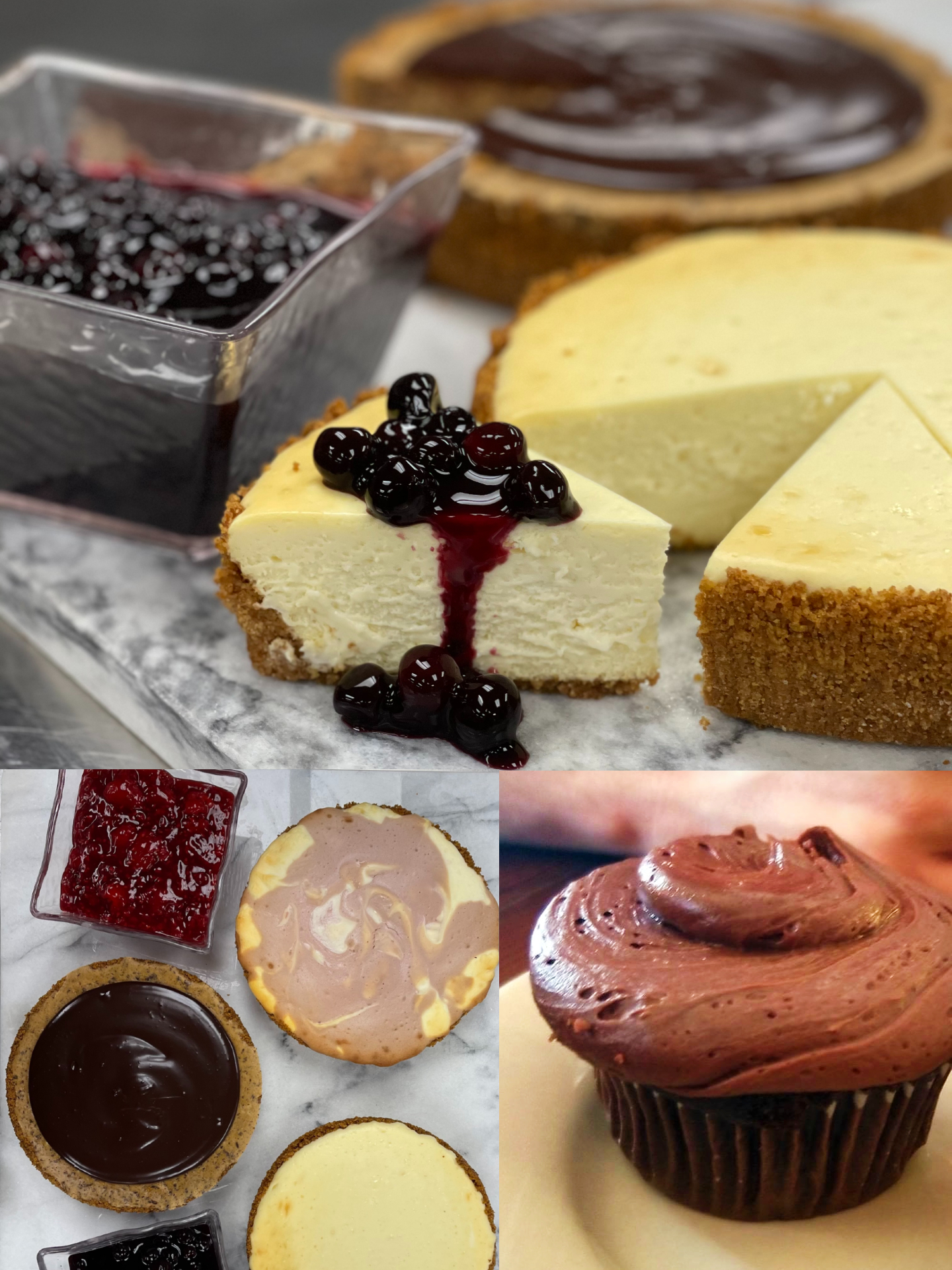 Cheesecakes and Cupcakes for Mother's Day!